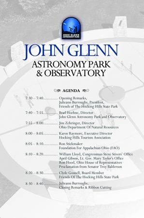 JGAP Ribbon Cutting ceremony agenda/program pg 2